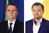 ディカプリオさんが反論 ブラジル大統領の非難に