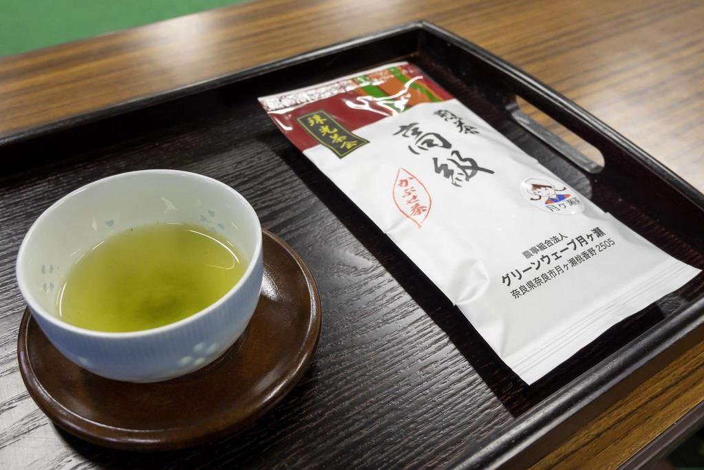珠光茶会のためにブレンドされた高級煎茶=奈良市