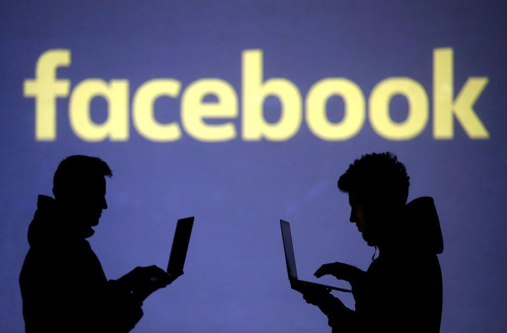 フェイスブックのロゴ(ロイター)