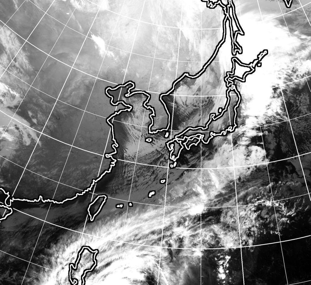 12月2日午後6時現在のひまわり雲画像
