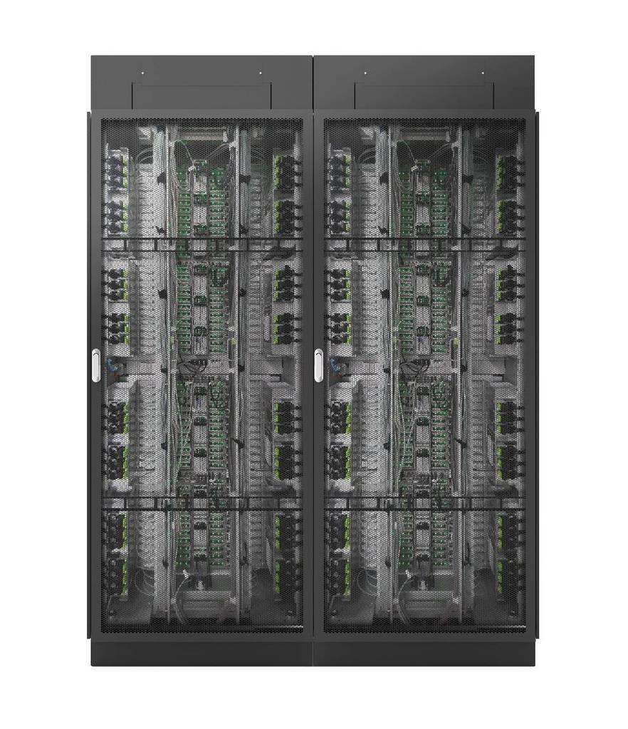 スーパーコンピューター「富岳」のラックのイメージ図(富士通提供)