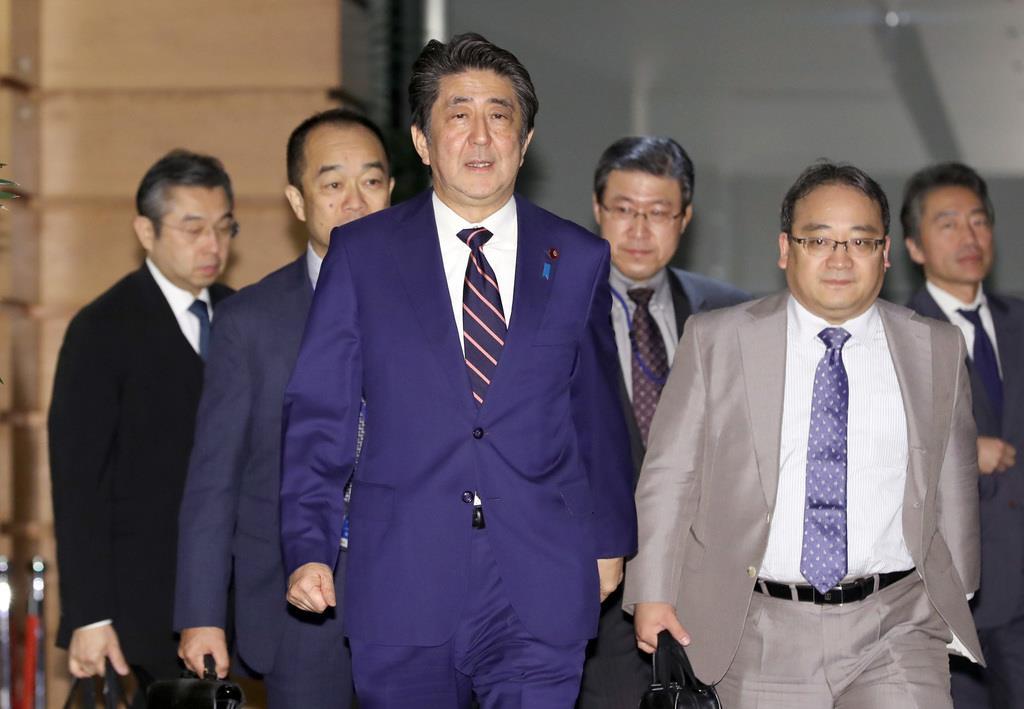 安倍晋三首相(春名中撮影)