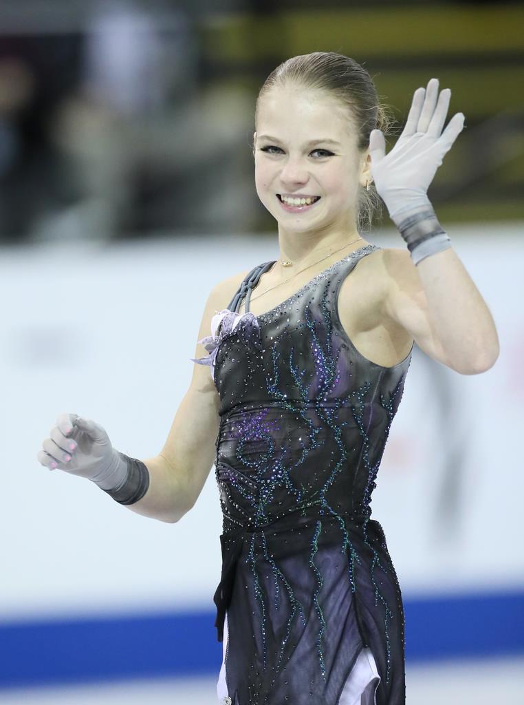 アレクサンドラ・トルソワ。スケートカナダとロシア杯で優勝した(門井聡撮影)