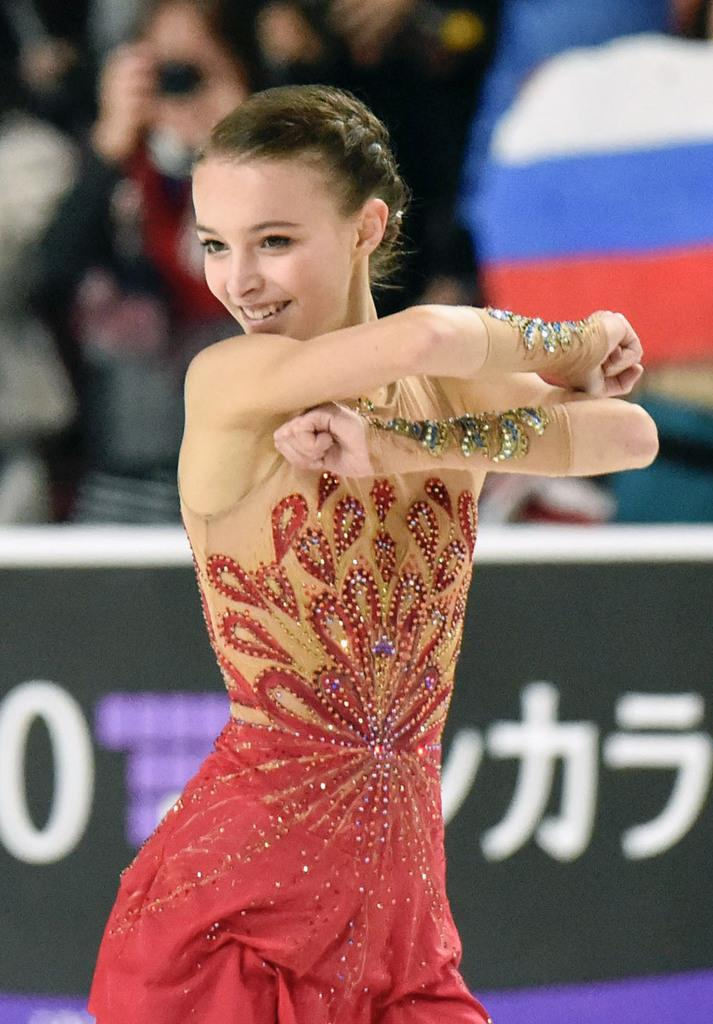 アンナ・シェルバコワ。スケートアメリカと中国杯で連勝した(共同)