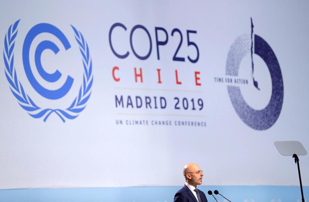 2日、スペインで開幕した国連気候変動枠組み条約第25回締約国会議(ロイター)