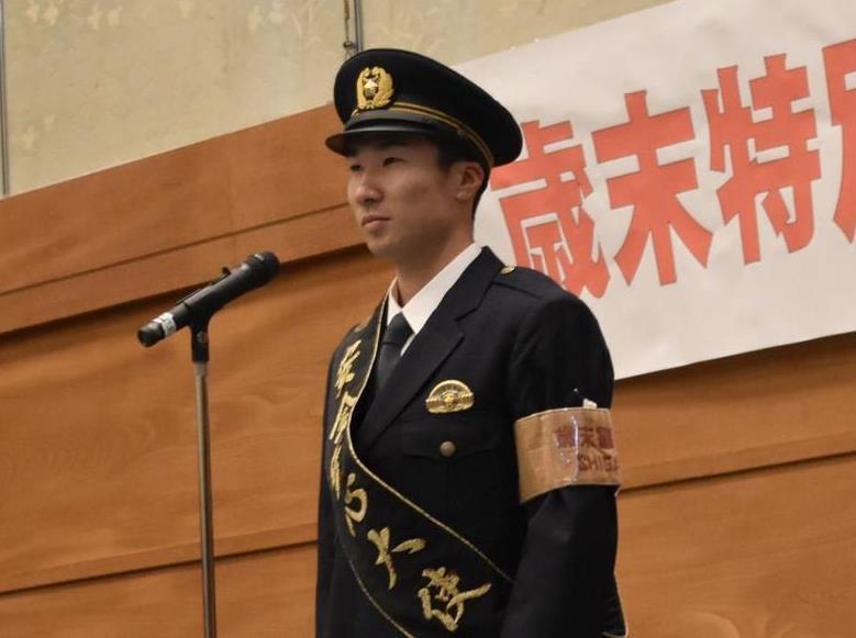 滋賀県警の「安全安心大使」に任命された桐生祥秀選手