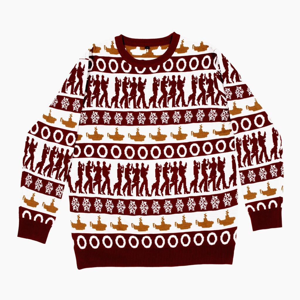 ビートルズがデザインされたセーター(ソニー・ミュージックエンタテインメント提供・共同)