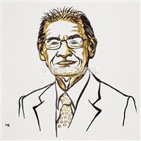 【ノーベル賞'19】吉野さん似顔絵は「自信の1枚」 担当のスウェーデン人アーティスト