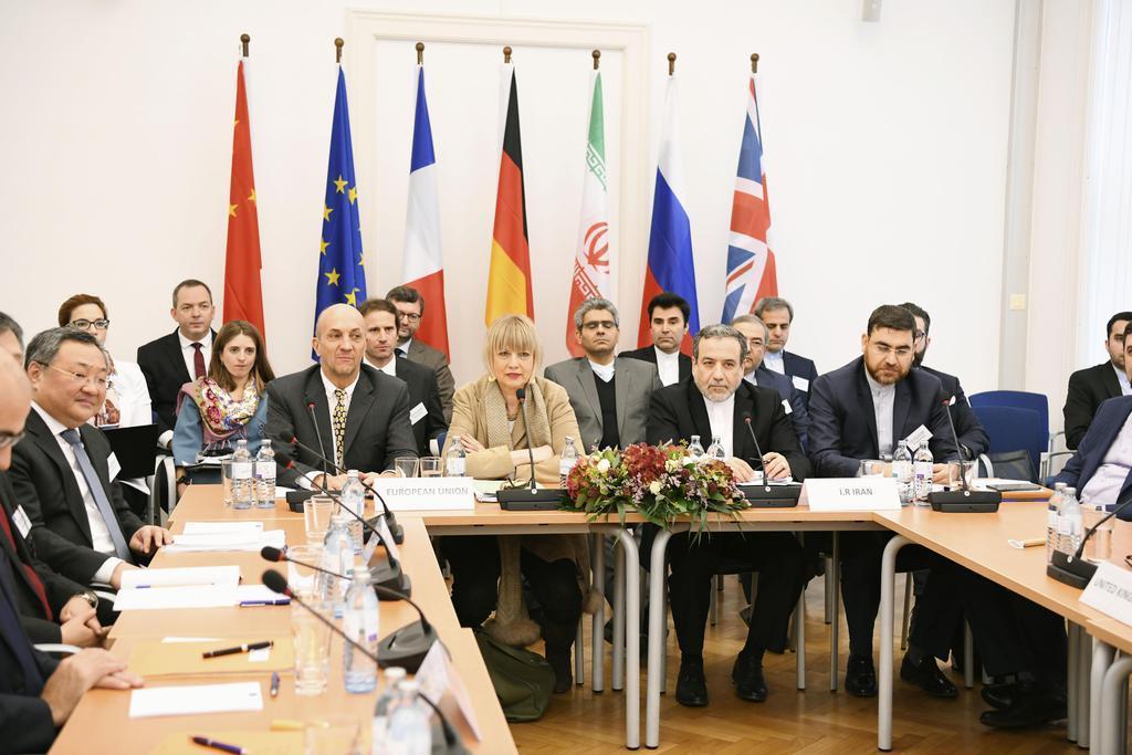 6日、イラン核合意の履行状況などを協議する合同委員会の次官級協議=ウィーン(共同)
