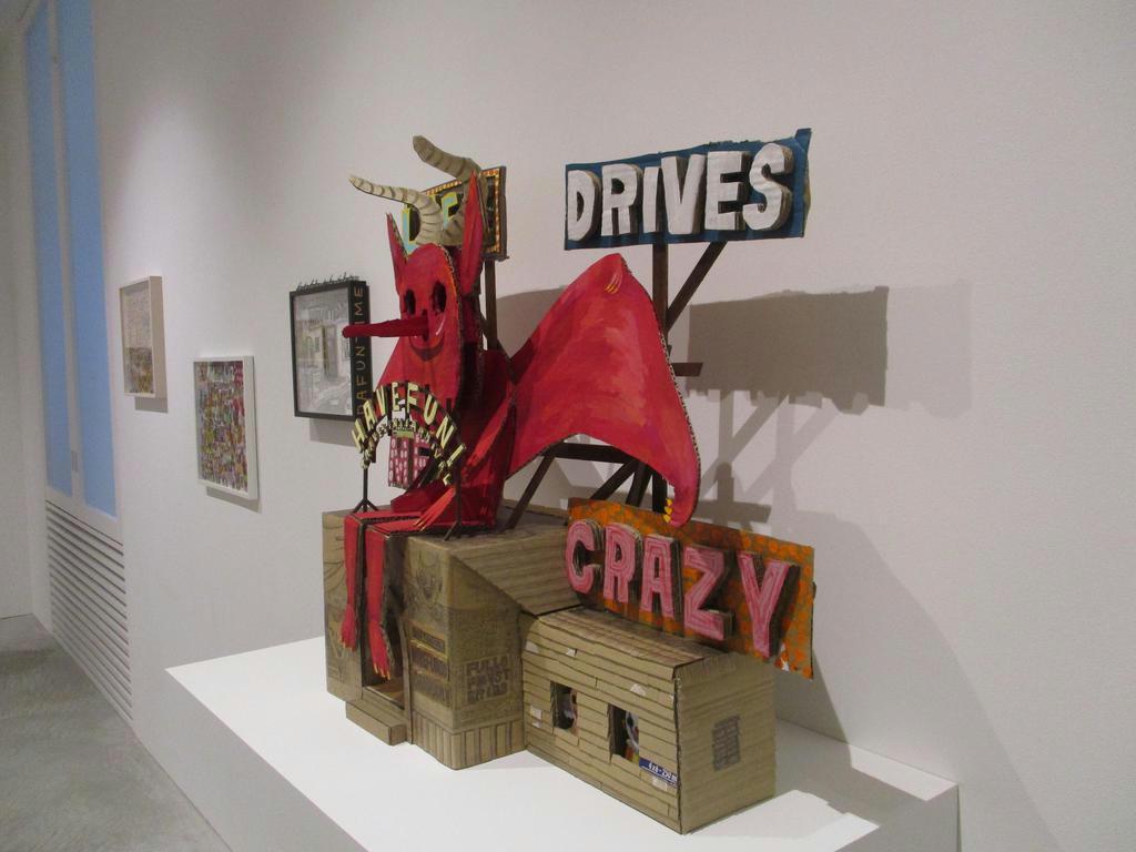 東京・六本木で開かれている現代アーティスト、三宅信太郎の個展