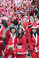 【動画あり】師走の大阪、サンタ走る 難病の子供たちへクリスマスプレゼント