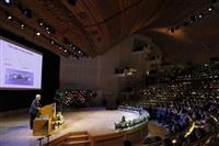 リチウムイオン電池「持続可能社会の中心技術に」 吉野さんノーベル記念講演