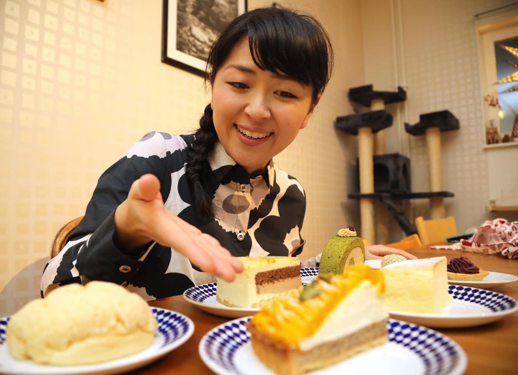 スウェーデンで日本のお菓子を広めるヴェントゥラ愛さん=ストックホルム(桑村大撮影)