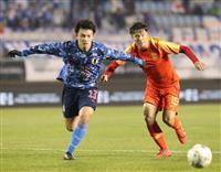 サッカー日本-中国速報(5) 三浦の得点で日本がリード広げる