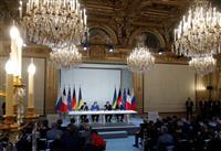 ウクライナ東部、年内に完全停戦 首脳会談で合意、親露派地域の扱いは解消できず