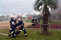 東日本大震災で被災の千葉科学大で防災訓練 学生消防隊ら活躍