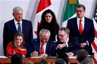 米、新NAFTA修正合意 3カ国再署名、承認へ