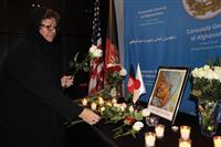 ニューヨークのアフガン総領事館で中村医師の追悼式