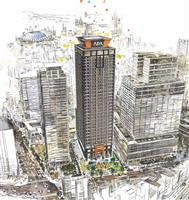 西日本最大2064室 アパグループ「大阪難波駅タワー」計画発表