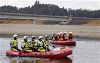 台風の不明者、大規模捜索 茨城・那珂川