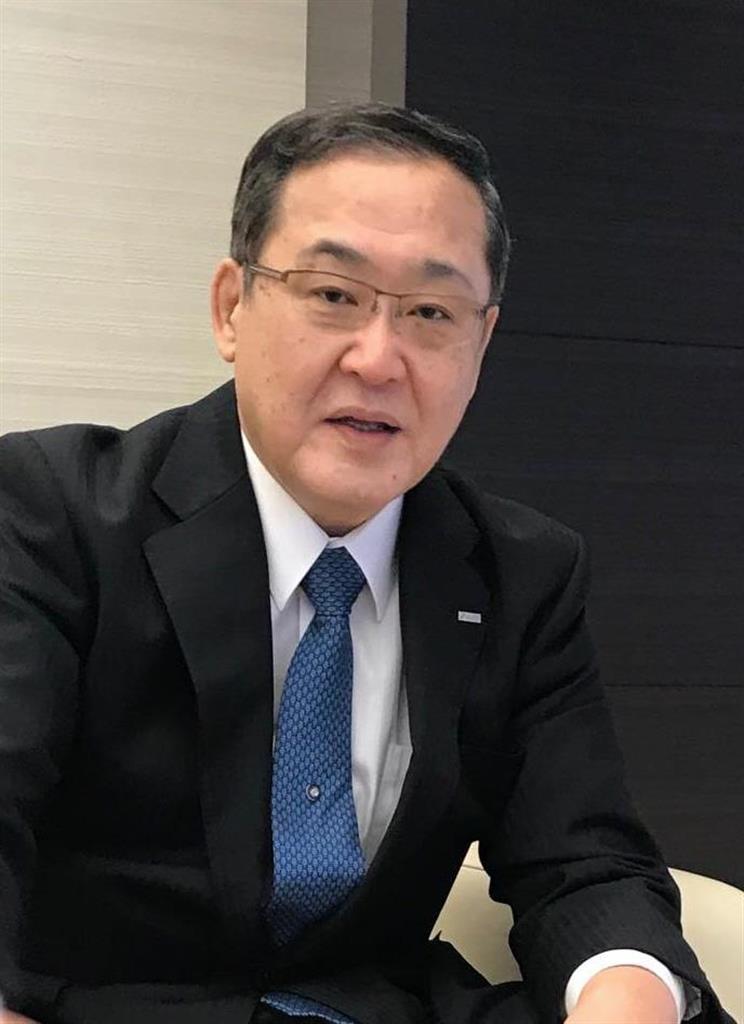 インタビューに答える三井住友フィナンシャルグループの太田純社長