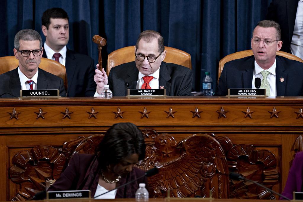 下院司法委員会のナドラー委員長=12日、ワシントン(AP)