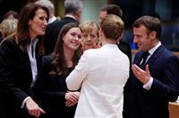 世界最年少の女性首相 フィンランドのマリーン氏、欧州外交デビュー 女性連立政権率いる