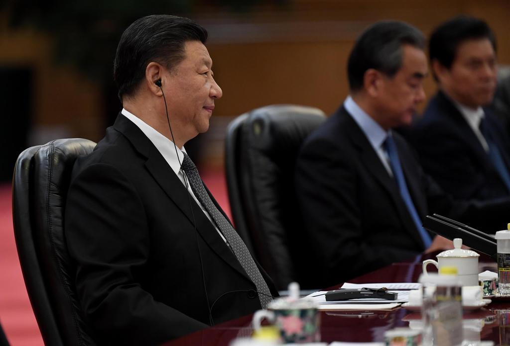 中国の習近平国家主席=13日、北京(ゲッティ=共同)