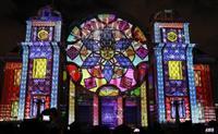 【動画あり】重文の中央公会堂で「光のアート」 大阪・中之島