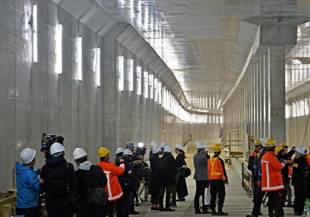 【動画あり】うめきた地下新駅、4割完成 JR西が報道公開