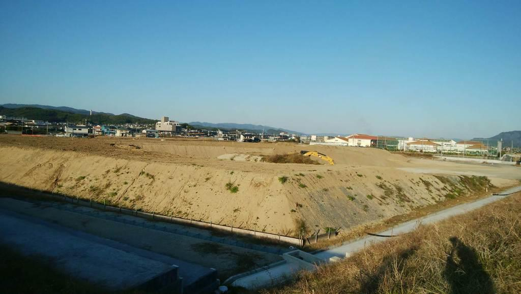 西日本豪雨からの復旧現場=11月、岡山県倉敷市真備町地区