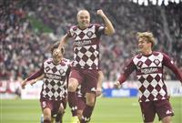 サッカー天皇杯、神戸が初の決勝進出 イニエスタが先制弾