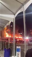 一時パニック…LA空港でバス3台燃える 負傷者なし