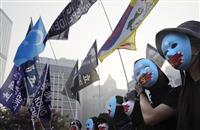 香港の「新疆化」拒否 ウイグル支援集会