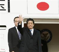安倍首相、中国へ出発 午後に習主席と会談 あす日中韓サミット出席
