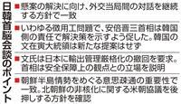 日韓首脳会談 安倍首相、徴用工判決解決迫るも文氏は解決策示さず