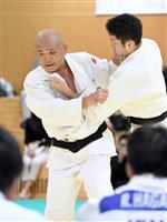 1964年東京五輪金の岡野氏が、20年代表候補らに技術指導 柔道男子強化合宿
