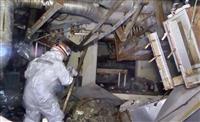 大破の建屋、覆うがれき 福島3号機の詳細映像公開