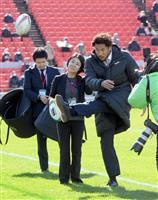 日本代表FB山中がエール 高校ラグビー開会式