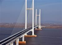 中朝の「新大動脈」開通間近か 新鴨緑江大橋、北朝鮮側道路を造成