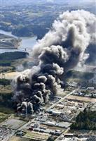 廃材置き場で火災、黒煙 千葉・市原、けが人なし