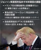 英首相、対米関係で苦慮 ファーウェイやFTA交渉めぐり