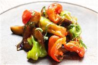 【料理と酒】新潟県長岡市、旧山古志村の伝統野菜 かぐら南蛮とナスの炒め