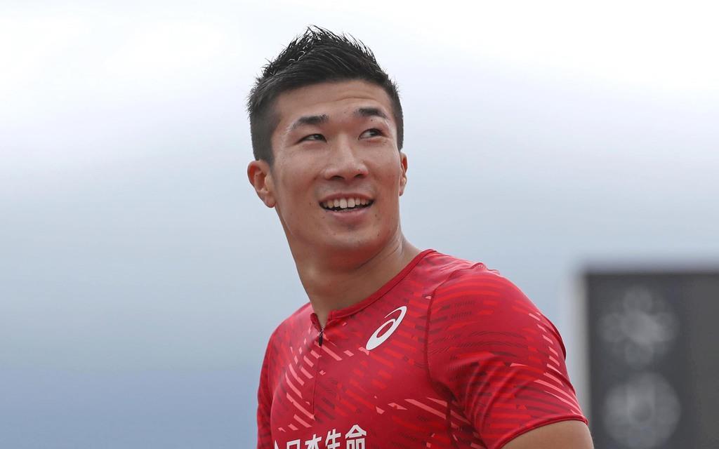 陸上男子100メートルの前日本記録保持者、桐生祥秀選手(桐山弘太撮影)