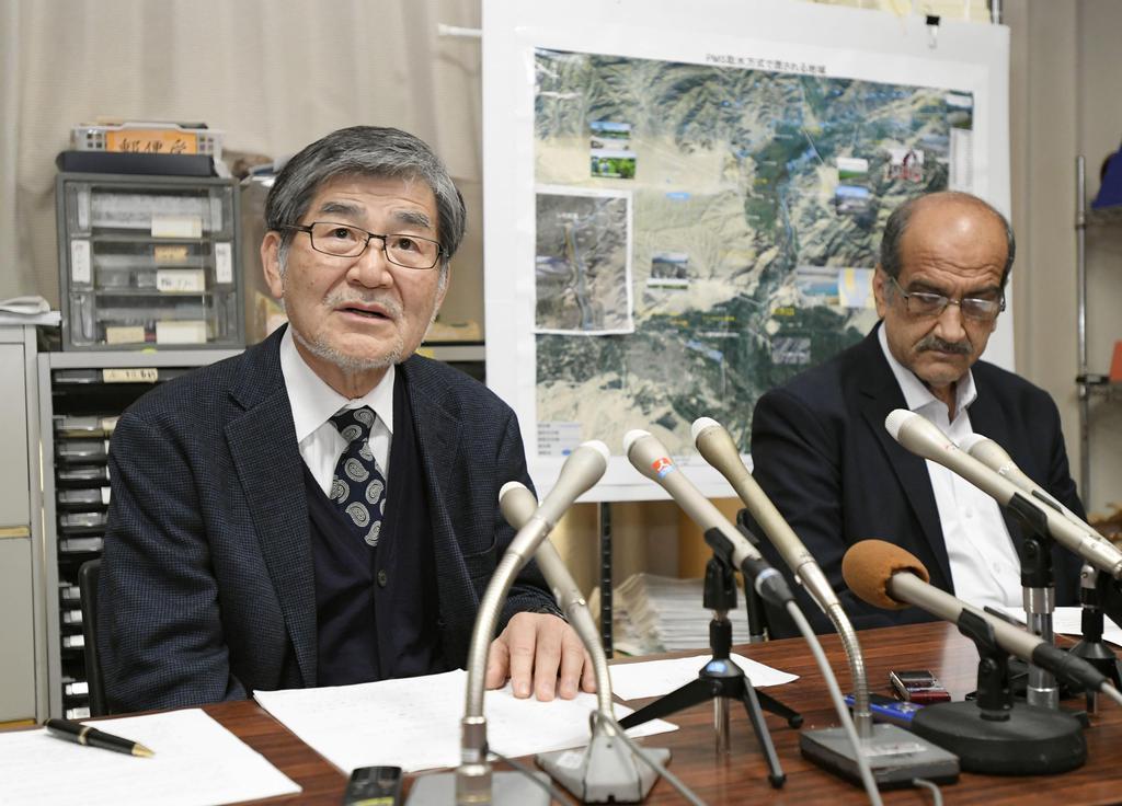 水路建設再開へ月内協議 中村哲さん殺害1カ月