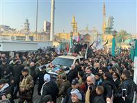 イラン司令官の葬儀に数千人 指導部内に対米報復論