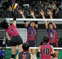 女子の京都橘が2回戦進出 男子は清水桜が丘がストレート勝ち 春高バレー速報(2)