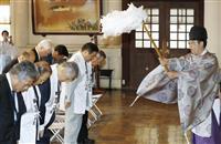 森会長「さあやるぞ」 富岡八幡宮で五輪・パラ成功祈念