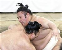貴景勝と朝乃山、稽古総見で熱戦 理事長「将来横綱を張って」