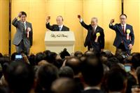 首相「日本独自の外交を」 経済3団体新年会合、財界はエネ政策注文